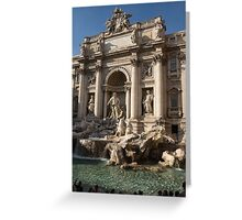Toss a Coin to Return - Trevi Fountain, Rome, Italy Greeting Card