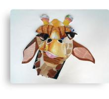 giraffe in doubt Canvas Print
