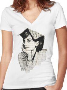 Audrey Hepburn Women's Fitted V-Neck T-Shirt