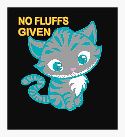 No fluffs given - cute cat Photographic Print