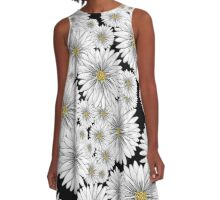 Retro Daisies A-Line Dress