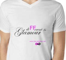 Different is Glamour - White Mens V-Neck T-Shirt