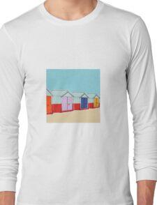 Beach Huts  Long Sleeve T-Shirt