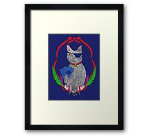 Pawsitively Badass Framed Print