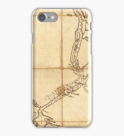 Map Of Saint John Harbour 1761  iPhone Case/Skin