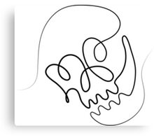 One Line Skull Canvas Print