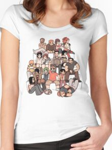 Everybody in the stairs Women's Fitted Scoop T-Shirt