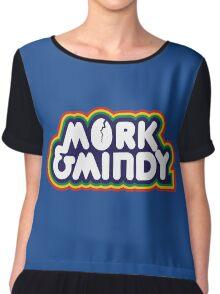 Mork & Mindy Chiffon Top
