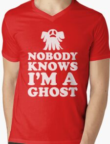 Nobody Knows I'm A Ghost, Funny Halloween Saying Quote Gift For Men And Women Mens V-Neck T-Shirt
