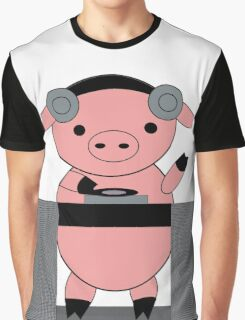 DJ Piggy Pig Graphic T-Shirt