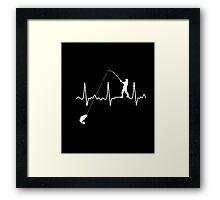 FISHING HEARTBEAT T-Shirt Framed Print