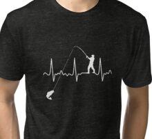 FISHING HEARTBEAT T-Shirt Tri-blend T-Shirt