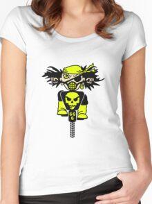 BMX Biker Pirate VRS2 Women's Fitted Scoop T-Shirt