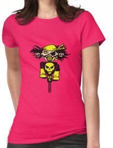 BMX Biker Pirate VRS2 Womens Fitted T-Shirt