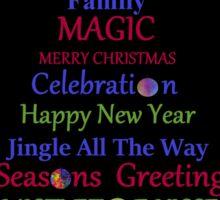 Holiday Tree - Black Sticker
