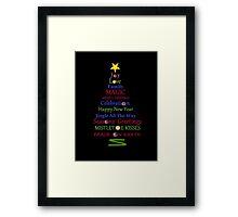 Holiday Tree - Black Framed Print