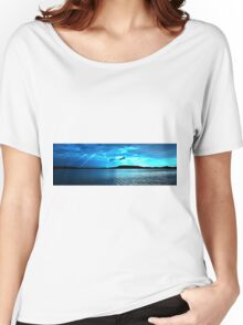 Blue Sunrise waterscape. Photo Art, Prints, Gifts, and Apparel. Women's Relaxed Fit T-Shirt
