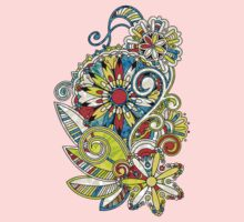 Abstract vector floral and ornamental item background Kids Clothes