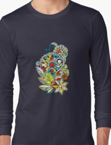 Abstract vector floral and ornamental item background Long Sleeve T-Shirt