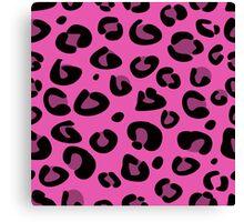 Seamless pink leopard texture pattern. Fashion Leopard skin Canvas Print