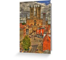 Lincoln Cathedral HDR Greeting Card