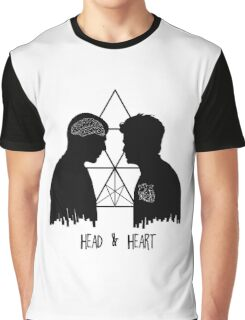 Kirk/Spock - Head/Heart //on light colours// Graphic T-Shirt