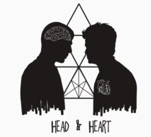 Kirk/Spock - Head/Heart //on light colours// Kids Tee