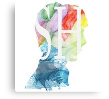 Sherlock Watercolor Canvas Print