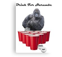 Drink for Harambe Canvas Print