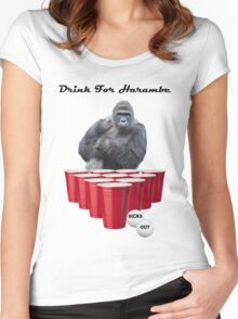 Drink for Harambe Women's Fitted Scoop T-Shirt