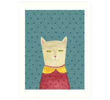 Dreaming cat Art Print
