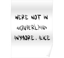 Were not in wonderland anymore, alice Poster