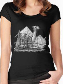 Camel Shirt, Pyramids Shirt Women's Fitted Scoop T-Shirt