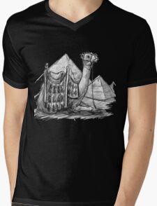 Camel Shirt, Pyramids Shirt Mens V-Neck T-Shirt