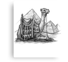 Camel Shirt, Pyramids Shirt Canvas Print