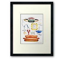 central perk friends tv show Framed Print