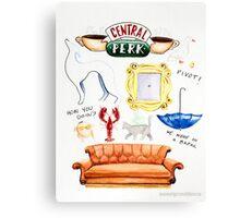 central perk friends tv show Canvas Print