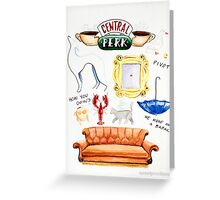 central perk friends tv show Greeting Card