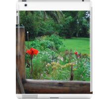 Backyard Flower Garden iPad Case/Skin