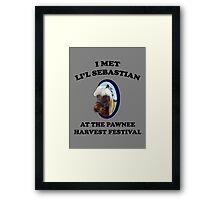 I Met Li'l Sebastian  Framed Print