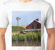Red Barn In Sonoma Valley Unisex T-Shirt
