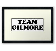Team Gilmore Framed Print