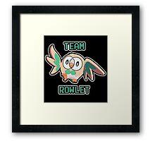 Team Rowlet Framed Print
