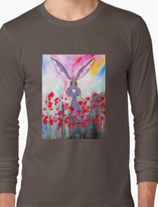 HARE IN POPPIES Long Sleeve T-Shirt