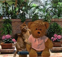 AW DON'T LOOK SO SAD TEDDY - LET ME GIVE U A HUG-PICTURE/CARD/PILLOW/TOTE BAG by ✿✿ Bonita ✿✿ ђєℓℓσ