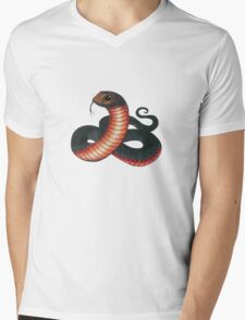 Red-bellied Black Snake Mens V-Neck T-Shirt