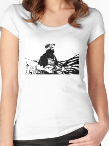 Graphic Busker Women's Fitted Scoop T-Shirt