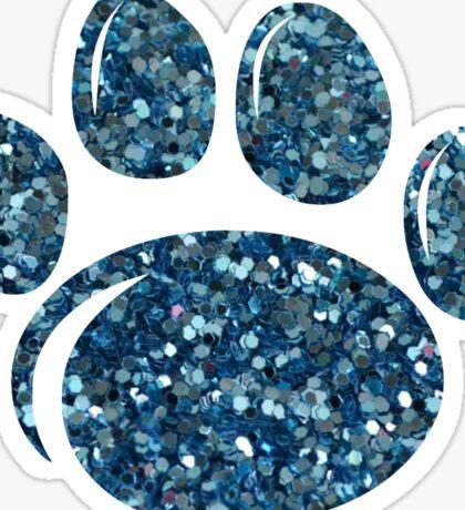Penn State Glitter Paw Print Sticker