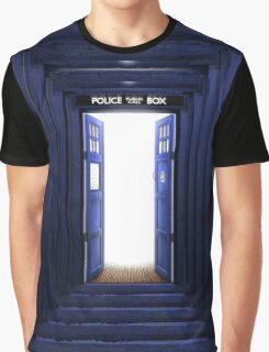 New World in Tardis Graphic T-Shirt