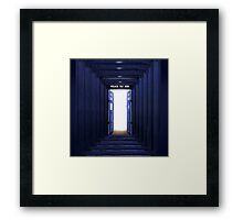New World in Tardis Framed Print